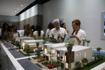 Guests showed a lot of interest in the project.