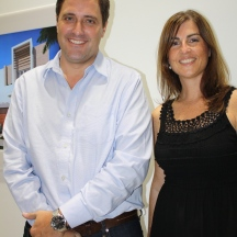 Gonzalo Navarro and Alejandra Buchanan, part of Arx Solutions' team.