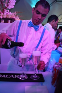 Different kind of drinks were served at the opening.