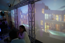 Our virtual tour showed in these three huge screens.