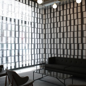 The Taystee Building showroom's design looks modern and sleek.