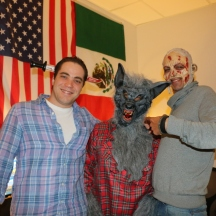 Careful! Zombies and the wolfman in da house!