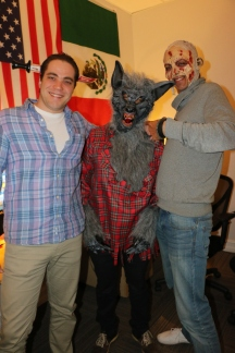 Two zombies and a wolfman