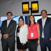 Smile! Gonzalo, Connie, Alejandra and Patricio ready to show the new ArXperience.
