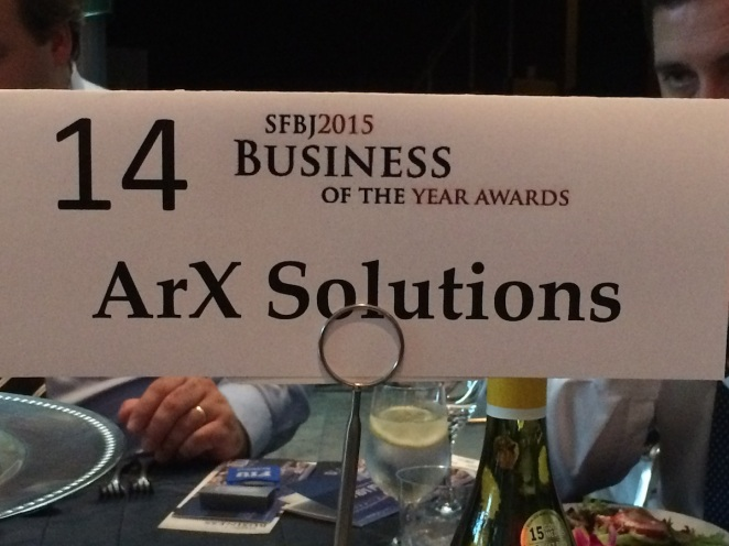 ArX Solutions nominated for SFBJ2015 Business of the Year Awards
